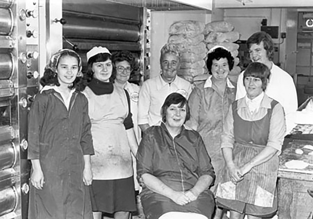 The Baking staff in the 1970's